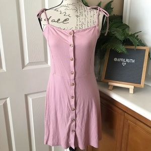 Topshop - Dusty Pink Button Down Dress